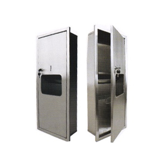 Stainless-Steel-2-in-1-Paper-Towel-Dispenser-&-Disposal-(Recessed)-PTD-190SS