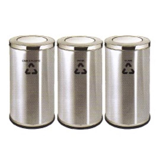 Stainless-Steel-Flip-Top-Recycle-Bin-220SS