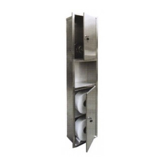 Stainless-Steel-Hand-Dryer-with-Storage-Cabinet-(Recessed)-PTD-200SS