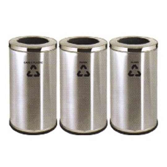 Stainless-Steel-Open-Top-Recycle-Bin-222SS