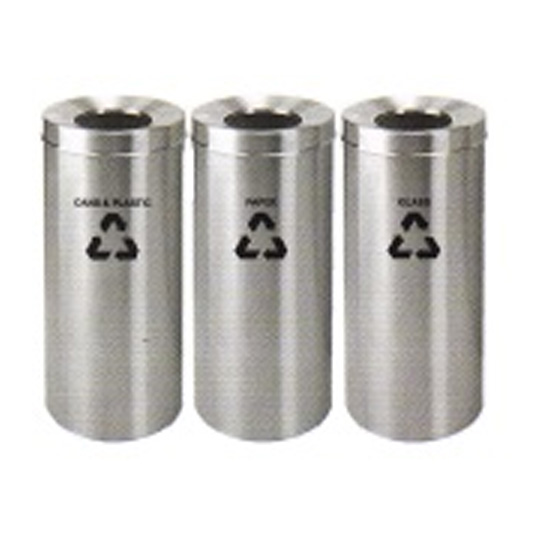 Stainless-Steel-Open-Top-Recycle-Bin-233SS
