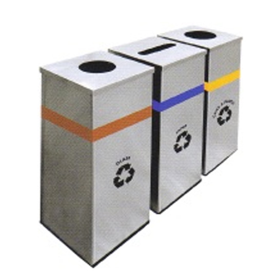 Stainless-Steel-Round-Recycle-Bin-127SS