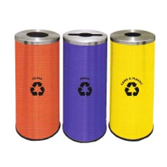 Stainless-Steel-Round-Recycle-Bin-132SS