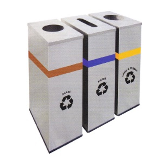 Stainless-Steel-Round-Recycle-Bin-133SS