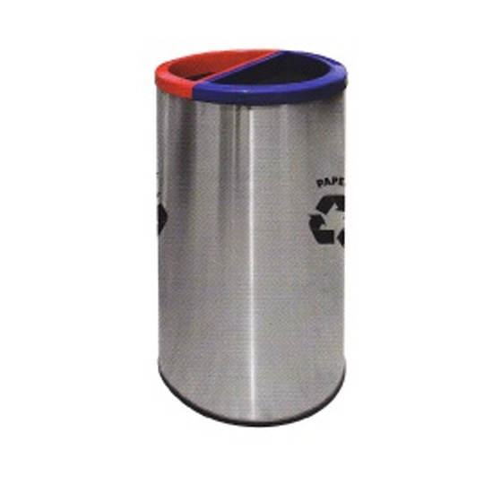 Stainless-Steel-Round-Recycle-Bin-136SS