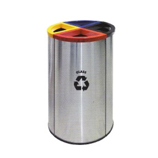 Stainless-Steel-Round-Recycle-Bin-139SS