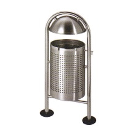 Stainless-Steel-Outdoor-Bin-With-Top-Cover-&-Galvanised-Steel-Liner