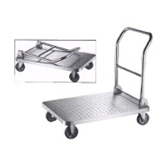 Stainless Steel Plat Form Trolley Foldable Handle