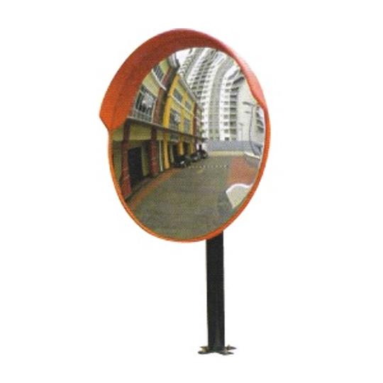 Outdoor Convex Mirror cw Cap (Pole Mounted)