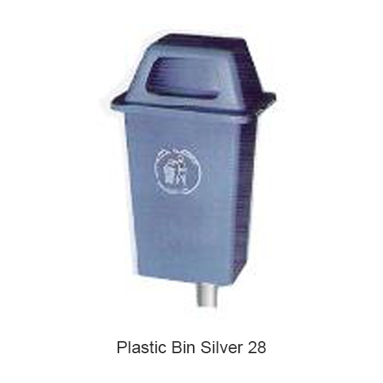 Plastic Bin Silver 28