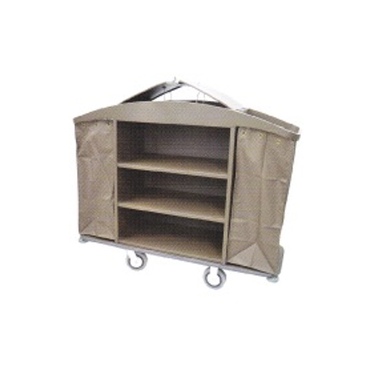 Powder Coating Maid Trolley cw Organiser and Cover LD-MDT208