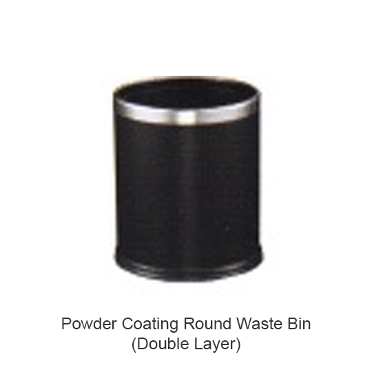Powder-Coating-Round-Waste-Bin-(Double-Layer)-LD-RB097