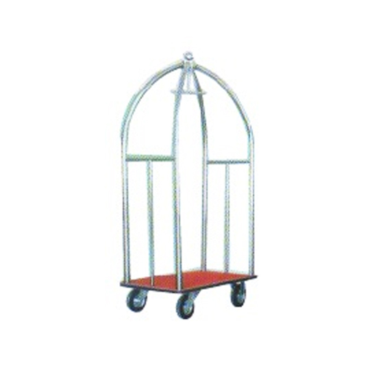 Stainless Steel Birdcage Cart Non Marking Wheels