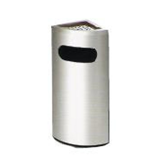 Stainless Steel Corner Bin cw Ashtray Top CNB047