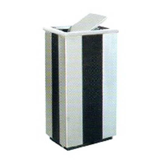 Stainless Steel Epoxy Rectangular Flip Top Bin RFT218
