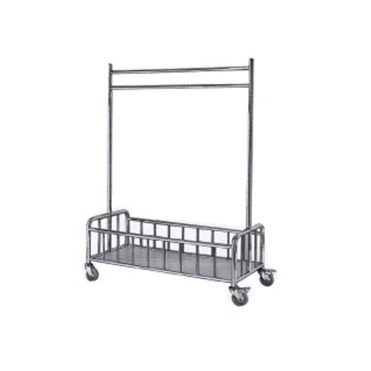 Stainless Steel Liner Hanging Trolley cw Bottom Basket Compartment