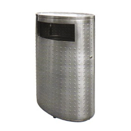 Stainless Steel Oval Waste Bin Flat Top RAB143