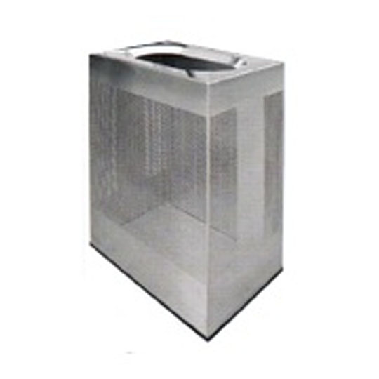 Stainless Steel Rectangular Waste Bin Open Top ROB152