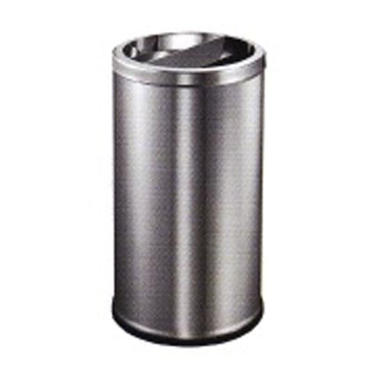 Stainless Steel Round Waste Bin Half Ashtray & Half Open Top LD-RAB087