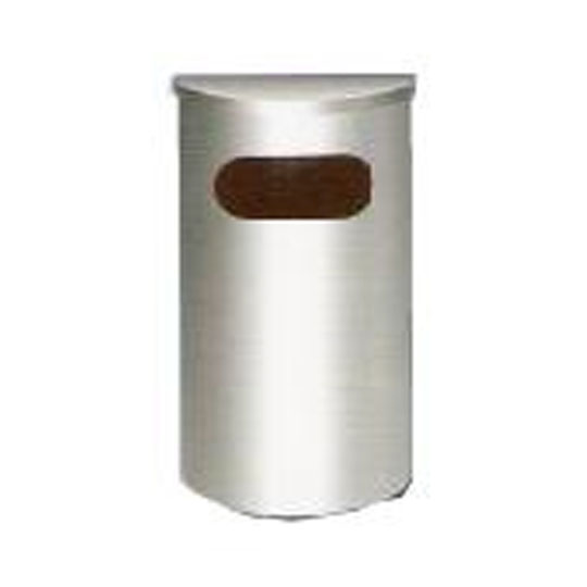 Stainless Steel Semi Round Bin Flat Top SRB039F