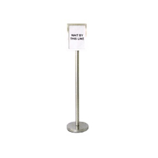 Stainless Steel Sign Board Stand SBS023