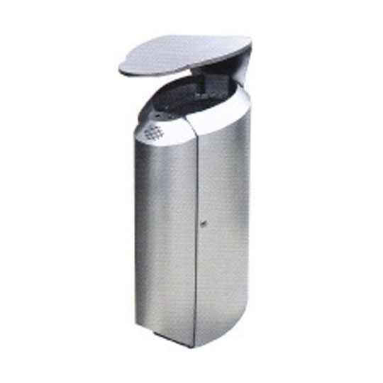 Stainless Steel Waste Bin Open Top & Ashtray RAB148OT